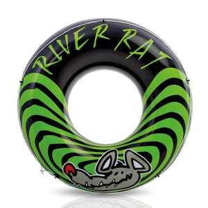 Intex 68209E River Rat Inflatable 48 Inch Lake Towable Floating Tube, Green