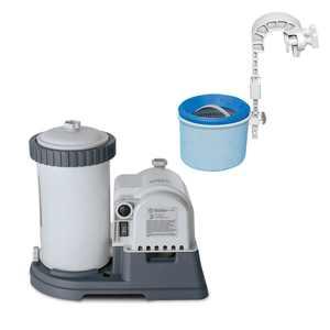 Intex Krystal Clear 2500 GPH Pool Filter Cartridge Pump and Wall Mounted Skimmer