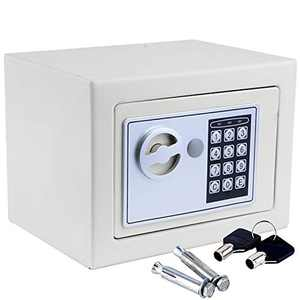 Ktaxon Digital Electronic Safe Security Lock Box Wall Home Office Hotel for Jewelry Cash, White