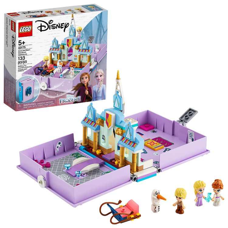 LEGO Disney Anna and Elsas Storybook Adventures 43175 Creative Building Kit (133 Pieces)