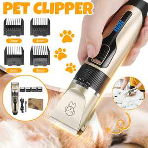 Pet Professional Hair Trimmer GroomerGrooming Clippers Kit For Dog Cat Christmas Gifts (Power On Display)
