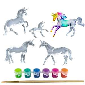 Breyer Stablemates Suncatcher Unicorn Craft 5 Piece Set - 1:32 Scale