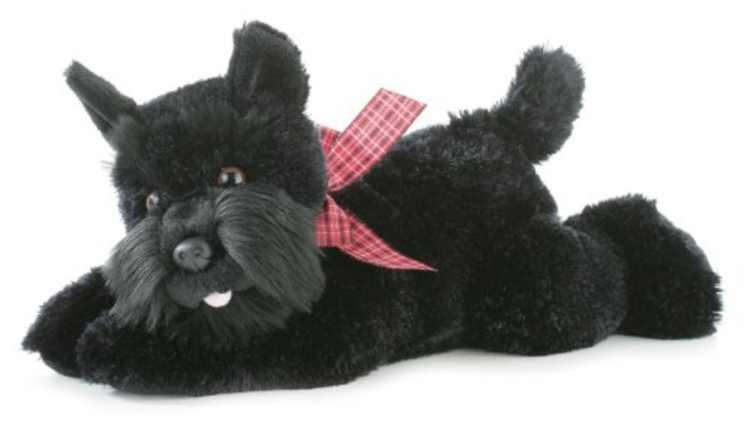"World Flopsie Mr. Nick Plush Scotty Dog, 12"", Realistic styling By Aurora"