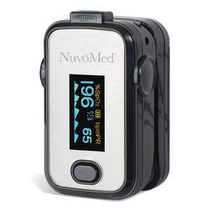 NuvoMed Fingertip Pulse Oximeter, Blood Oxygen Saturation Monitor, SpO2 Monitoring Device, Heart Rate Meter, OLED Display, USA Stock, Quick Ship