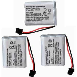 Housmile 3 Pack 3.6V 800mAh Ni-MH Cordless Phone Battery for Uniden BT-446 TL