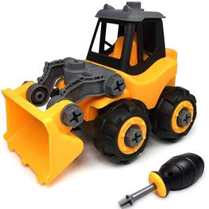 Wistoyz Take Apart Car Construction Toys for 2-3 -4 -5-6-7 Years Old Boys & Girls, STEM Toys with Screwdriver, Build Your Own Car Kit, Toy Cars for 2+ Year Old, DIY Assembling Bulldozer Toy
