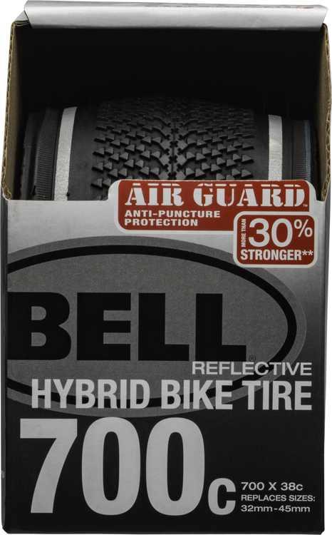 Bell Air Guard Hybrid Reflective Bike Tire, 700c x 32-45, Black
