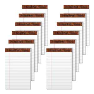 "TOPS The Legal Pad Writing Pads, 5"" x 8"", Jr. Legal Rule, 50 Sheets, 12 Pack"