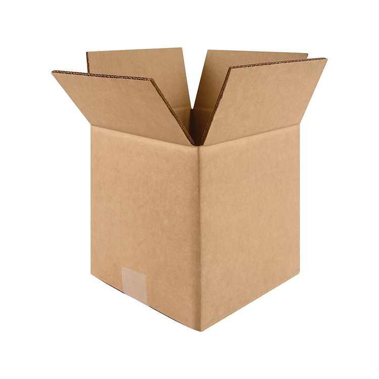 """Staples 12"""" x 12"""" x 12"""" Shipping Boxes Kraft 25/Bundle (60-121212) CW29353"""