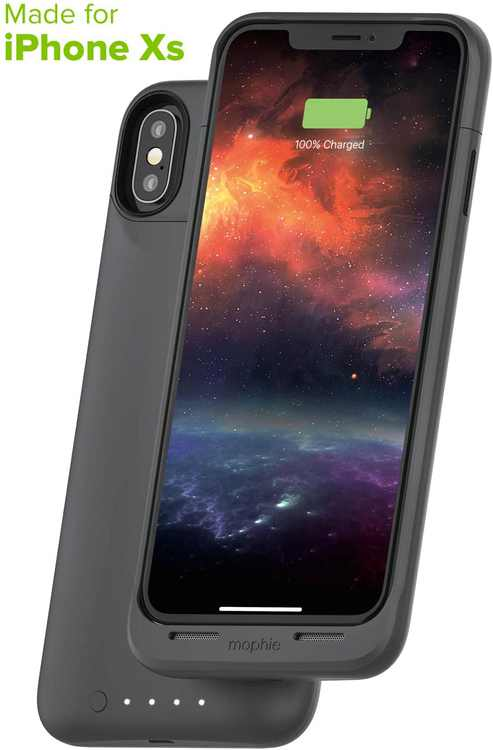 Mophie Juice Pack Air Protective Battery Pack Case for iPhone Xs  and X, Graphite