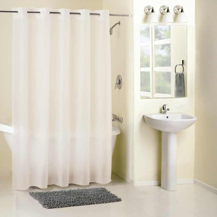 Surefit 71 In. x 74 In. Frost Hookless Shower Curtain with Liner RBH14FC844