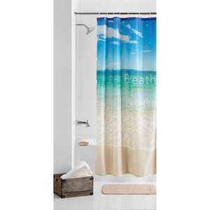 "Mainstays Photoreal Breathe Beach Polyester Taffeta Printed Scenic Fabric Shower Curtain, Multi, 70"" x 72"""