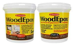 Abatron WE2PKR WoodEpox Epoxy Resin Wood Replacement Parts A & B, 2 Pint Kit