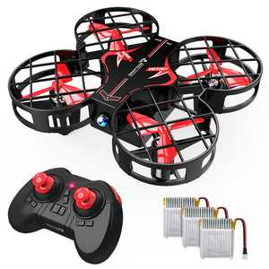 Snaptain H823H Portable Mini Toy Drone for Kids, Pocket RC Quadcopter With 3 Batteries, 21 Mins Flight Time, One Key Take Off Landing Red