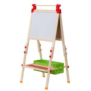 Ktaxon Kids Easel, Adjustable Magnetic Chalk Board & Magnetic Dry Erase Board