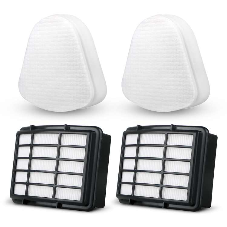 TSV 2 Packs Filter Kits Fit For Shark Navigator Lift-Away (NV352 NV355 NV356E NV350 NV351 ) ,Replacement Vacuum Cleaner Filter Set 2 Foam Flet Filter Kit +2 HEPA Filters, Part#XFF350 XHF350