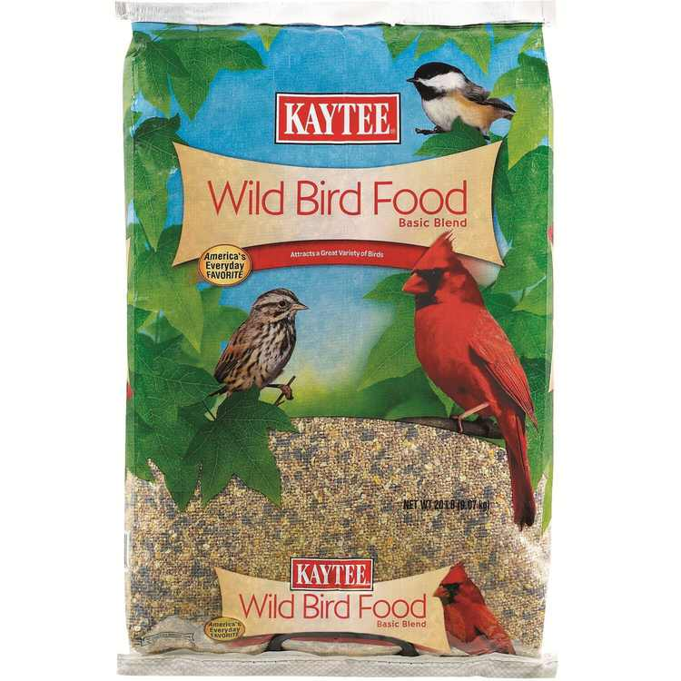 Wild Bird 20 Pound, Economical mix, containing black oil sunflower and millet By Kaytee From USA