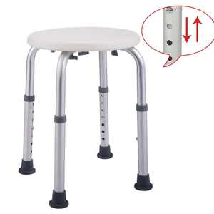 Zimtown Medical Tool-Free Assembly Adjustable Shower Stool Chair and Bathtub Seat Bench
