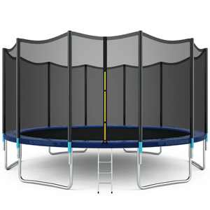 Gymax 16' Trampoline Combo Bounce Jump Safety Enclosure Net