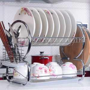 Stainless Steel 2 Shelf Dish Rack Drainer Sets for kitchen Sink
