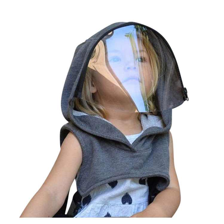 Tuscom Full Protective Wear Clear Hooded Hat Child Shield Reusable Removable