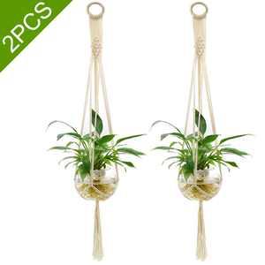 2-pack Pot Holder Macrame, EEEkit Plant Hanger Planter Hanging Basket Jute Rope Braided Craft