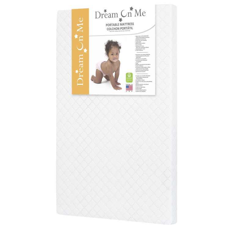 "Dream On Me, Sunset 3"" Extra Firm Fiber Portable Crib Mattress"
