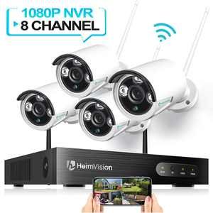 HeimVision HM241 Wireless Security Camera System, 8CH 1080P NVR System, 4pcs 960P 1.3MP WIFI IP Security Surveillance Cameras