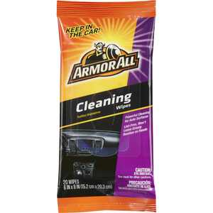 Armor All Cleaning Wipes Flat Pack for Car Cleaning, (20 Count)