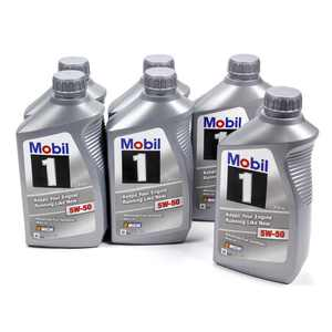 Mobil 1 5W-50 Synthetic Oil, 1 Quart Bottles (1 case of 6)