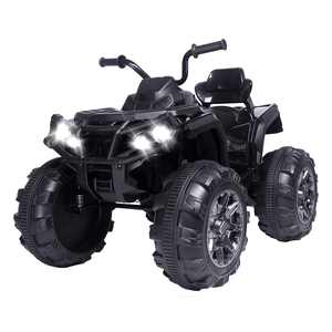 Zimtown 12V Children Car Powered Large ATV Ride-On Car 2 Different Speed Modes Black