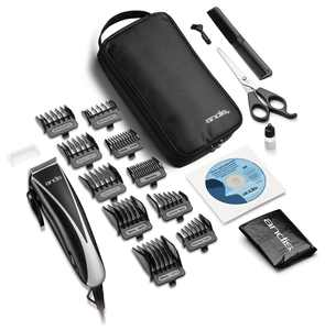 Andis Ultraclip Home Haircutting Kit, Black, 19 Pieces