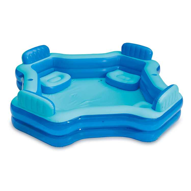 Summer Waves KB0706000 8.75ft x 26in Inflatable 4 Person Deluxe Swimming Pool