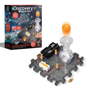 Discovery #MINDBLOWN Action Circuitry Electronic Experiment Mini STEM Set, Build-it-Yourself Engineering Toy Kit, Explore the Science of Motion, Floating Ball Experiment, Great Gift for Kids Ages 8 +