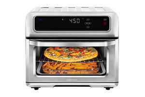 ChefmanDual-Function Air Fryer + Toaster Oven, Stainless Steel, 20 Liter
