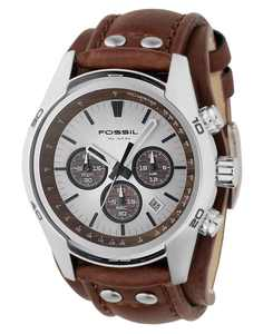Men's Decker Brown Leather Strap Watch CH2565