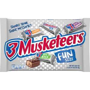 3 Musketeers Fun Size Milk Chocolate Candy Bars, 18.41 oz Bag