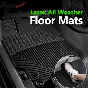 Compatible with 12-17 Toyota Camry Latex All Weather Floor Mat Carpet OE Factory Style Front Rear Black