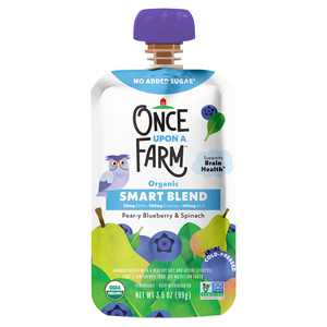 Once Upon a Farm Organic Smart Blend Pear-y Blueberry & Spinach Baby Food, 3.5 oz