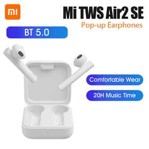 Xiaomi Mi Air2 SE TWS True Wireless Earphones Bluetooth 5.0 Pop-up Headset Sports Business Mini Earbuds 20H Music Time SBC AAC Dual Mic Tap Control For iOS Android Phone TWSEJ04WM