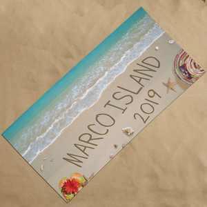 Personalized Written In Sand Beach Towel