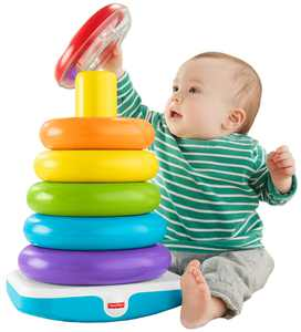 Fisher-Price Giant Rock-a-Stack with 6-Colorful Rings