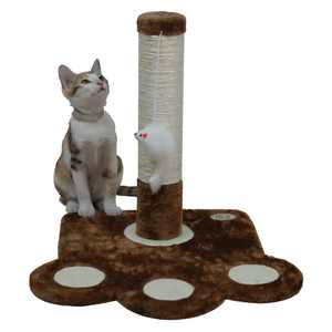 """Go Pet Club 16"""" Cat Scratching Tree with Toy, Brown"""