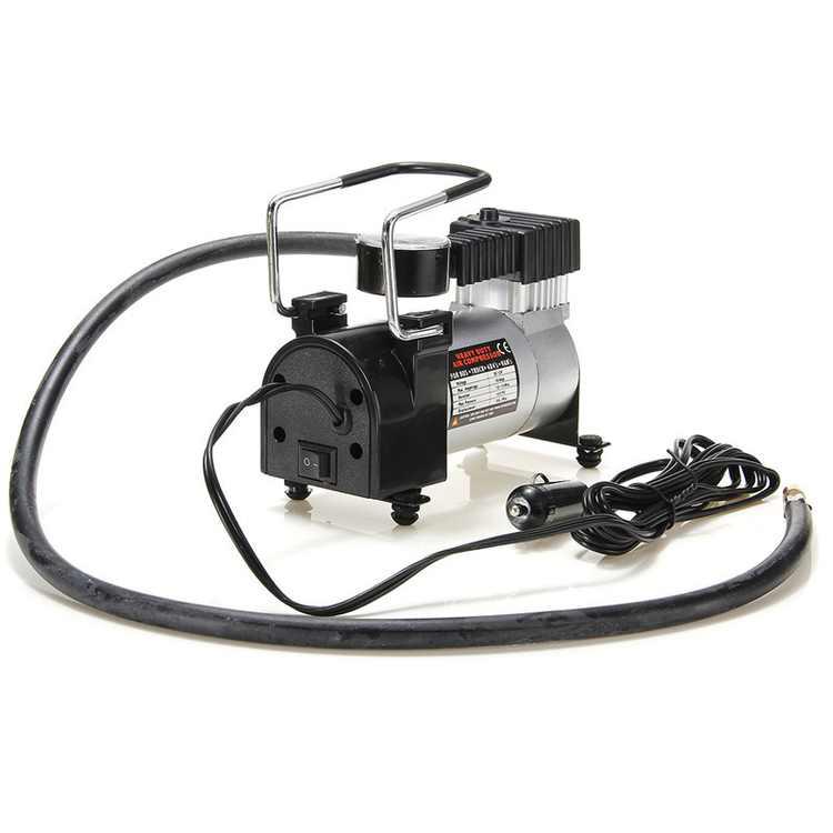 12V Portable Heavy Duty Pump Electric Tire Inflator Car Air Compressor 100PSI