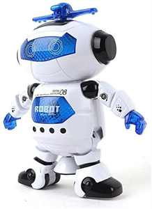 Electronic Toy Robot Walking Dancing Singing Robot with Musical and Colorful Flashing Lights 360 Body Spinning Robot Toy Gift for Kids, Boys and Girls