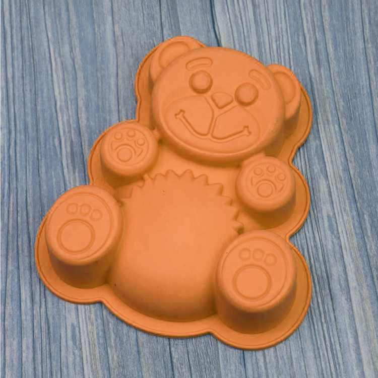 Dalx Bear Shape 3D Silicone Cake Mold DlY Cartoon Bakeware Maker Mold Tray Baking Cake Chocolate Fondant Moulds