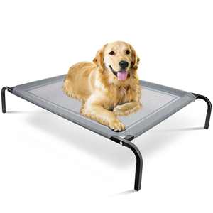 Paws & Pals Dog Bed Elevated High Quality Camping for Dogs Cats (Gray-NEW) (LG)