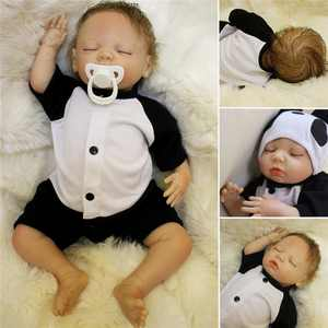 18'' Baby Toy Realistic Handmade Silicone Vinyl Sleeping Real Life Dolls Toys Toddler Gift