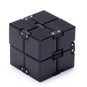 Infinity Cube Magic Cube for Kids and Adults Mini Gadget Spinner Fidget Toy Fidget Cube Better for Stress and Anxiety Relief and Kill Time Black