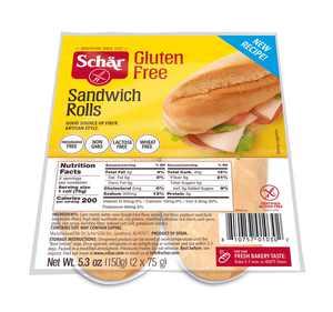 Schar Gluten Free Sandwich Rolls, Gluten Free Hoagie Rolls, 2 ct